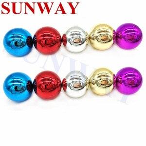 Lote de 10 unidades de bolas de mando Sanwa de 35MM, repuesto de bola superior cromada redonda para Arcade ZIPPY SANWA SEIMITSU Jamma Mame