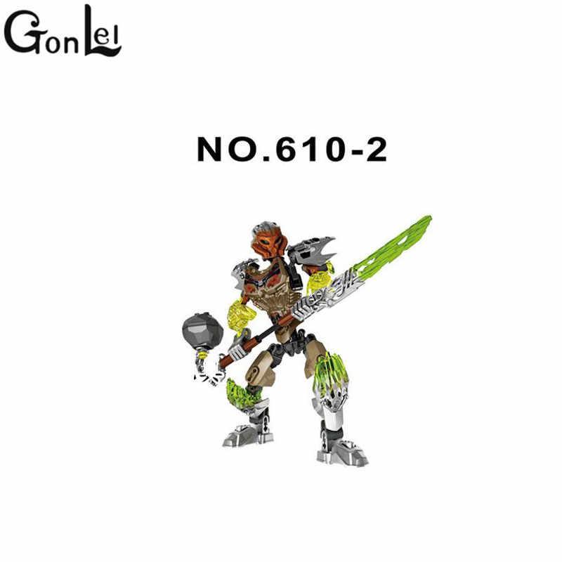 Compatível com Legoinglys BionicleMask Bioquímica Samurai Guerreiro da Luz Bionicle Tahu Ikir Bricks Building Block Melhores Brinquedos