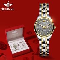 OUPINKE Women Watches Luxury Fashion Mechanical Automatic Self Wind Sapphire Datejust Watch Female Clock Elegant Gift For Women