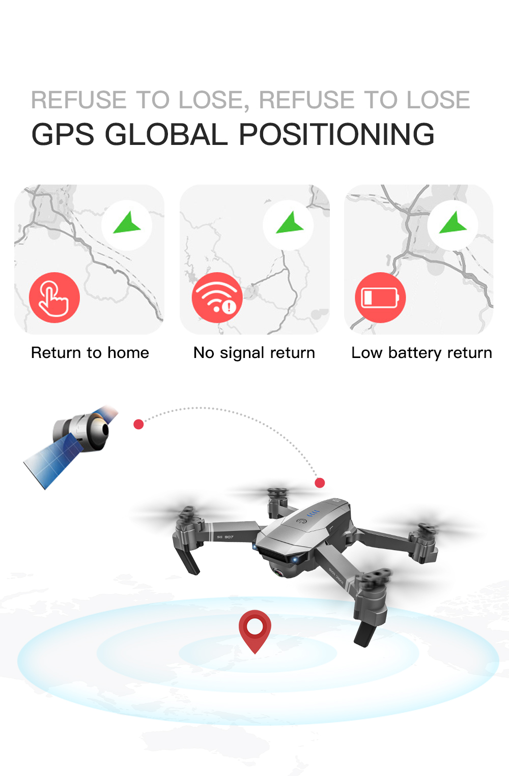 SG907 WIFI RC Quadcopter GPS Drone with 4K HD Dual Camera for Wide Angle Video Shooting 18
