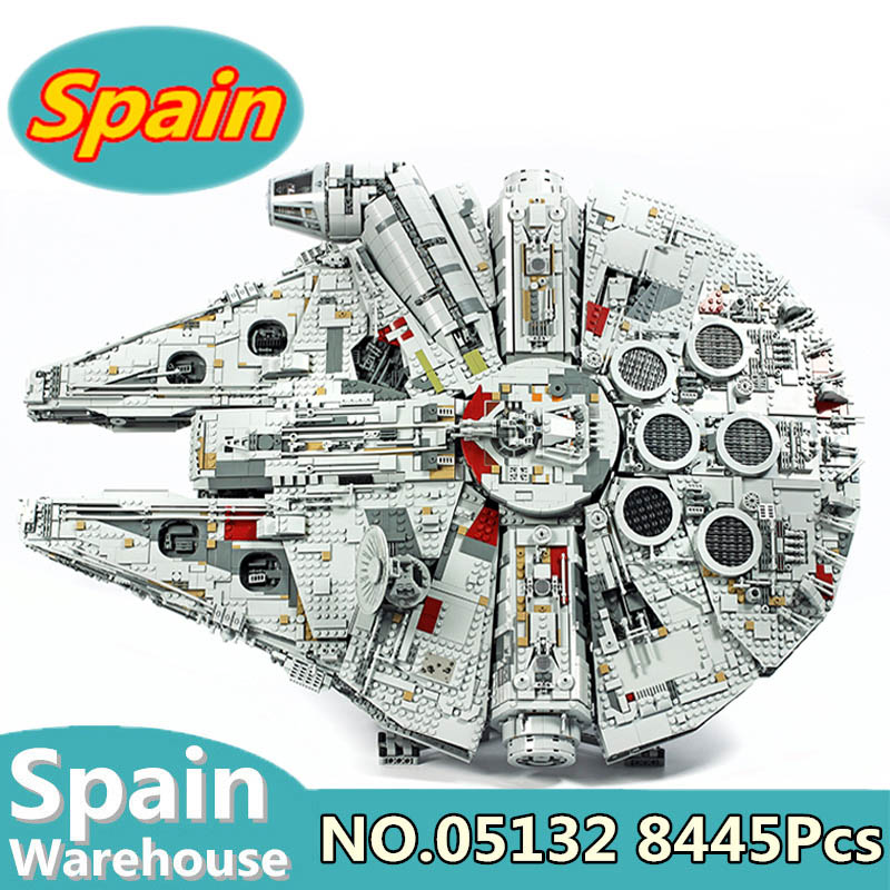 05007 05132 Millennium Star Wars Series Falcon Model Building Blocks Set Star Ship 75105 75192 Toys