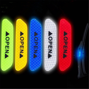 Stickers Reflective-Tape Waterproof Night-Driving-Safety-Lighting Warning Car Open 4pcs