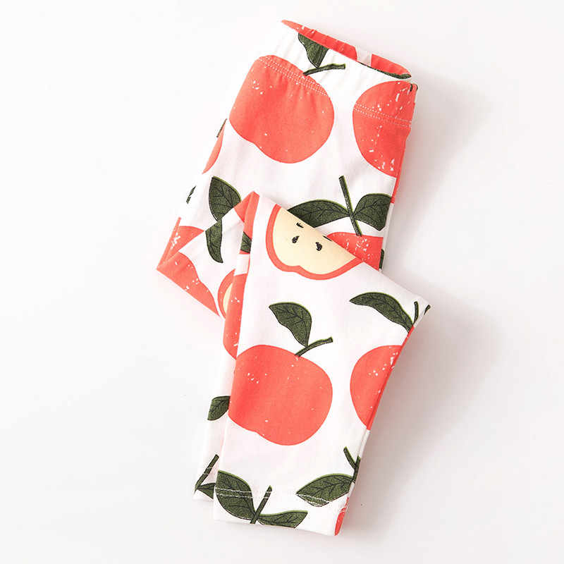 Nhảy mét Bé Gái Apple Quần Cho Mùa Thu Mùa Xuân Trẻ Em Hoạt Hình Quần Legging Dài Quần Thiết Kế Mới Trẻ Em Quần