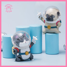 Original Cat and Dog Black Galaxy Roaming Series Blind Box Toy Doll Randomly A Cute Cartoon Character Gift Fantasy Figures