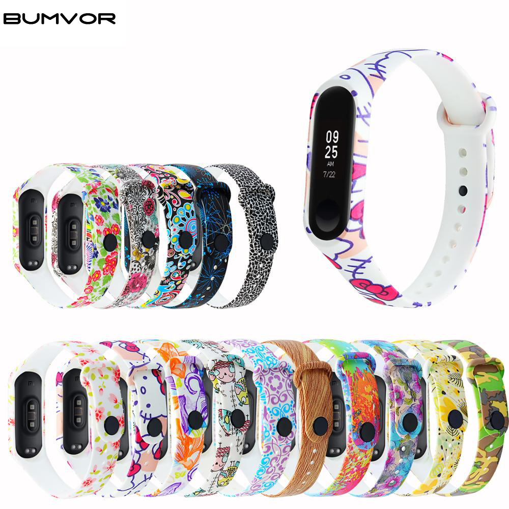 Soft Print  Bracelet For Xiaomi Mi Band 3 Watch Replacement Wrist Strap For Mi3 Smart Bracelet For Miband 4 Smart Wristband