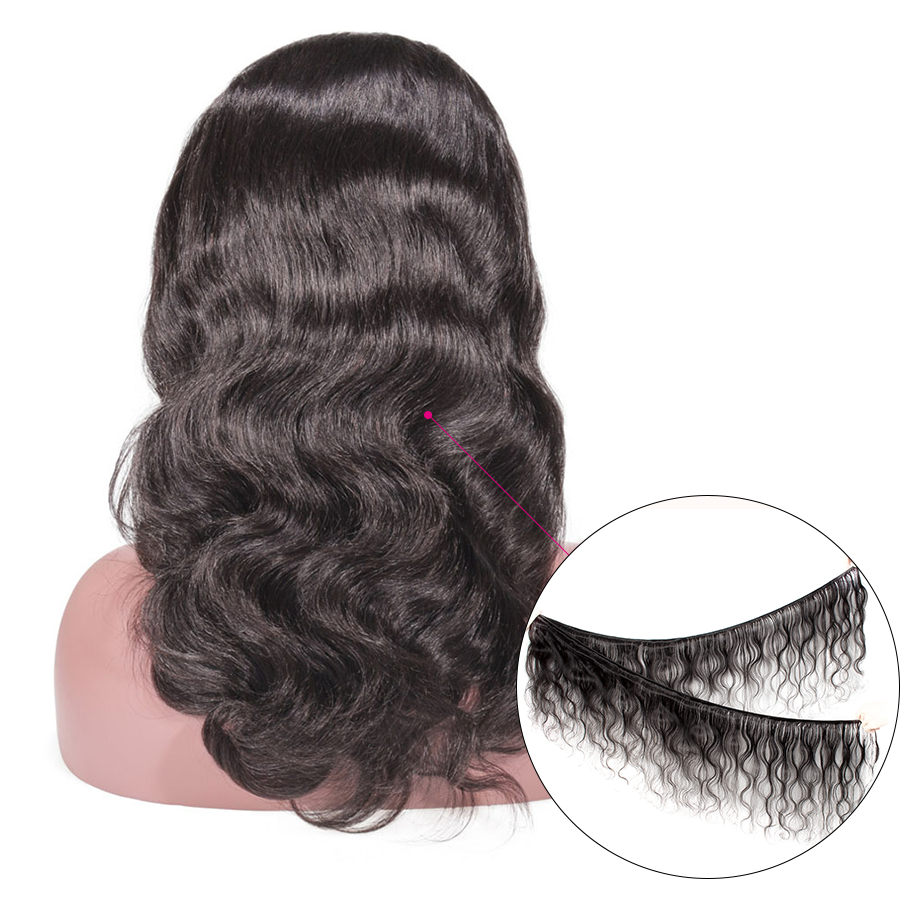 Image 5 - Glueless Lace Front Human Hair Wigs Body Wave Fake Scalp Wig Pre Plucked Brazilian remy Hair For Women 130 density 13x6-in Human Hair Lace Wigs from Hair Extensions & Wigs