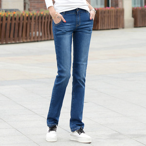 Lguc.H Classic Jeans for Women 2020 Stretch Straight Women Jeans Push Up Skinny Jeans Woman Jean Femme Comfortable Pants Blue 34