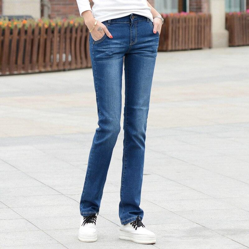 Lguc.H klasyczne jeansy damskie 2020 Stretch proste damskie jeansy Push Up obcisłe dżinsy rurki kobieta Jean Femme wygodne spodnie niebieskie 34