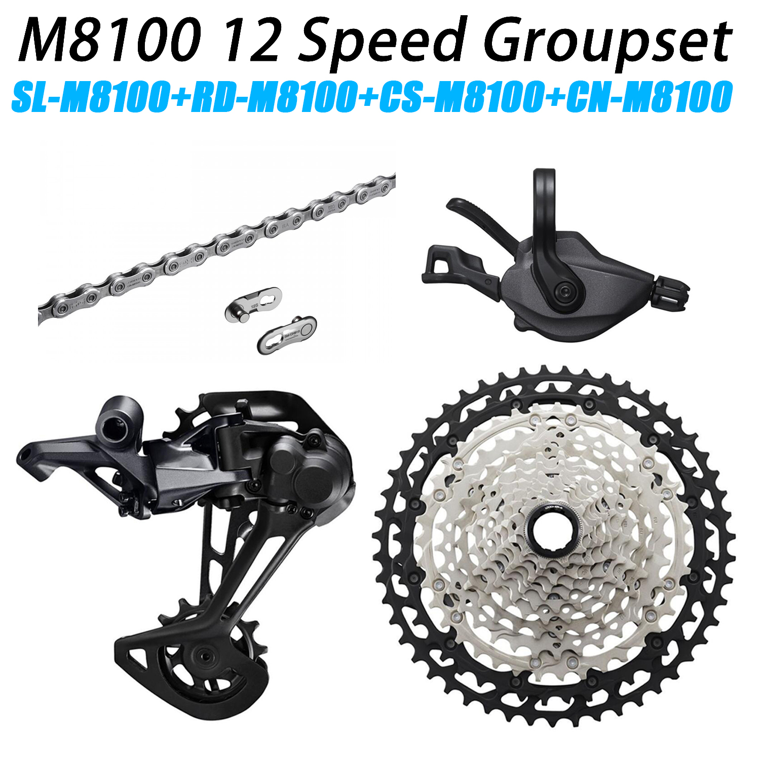 <font><b>XT</b></font> <font><b>M8100</b></font> Groupset MTB Mountain Bike 1x12-Speed 51T SL+RD+CS+HG <font><b>M8100</b></font> shifter Rear Derailleur image