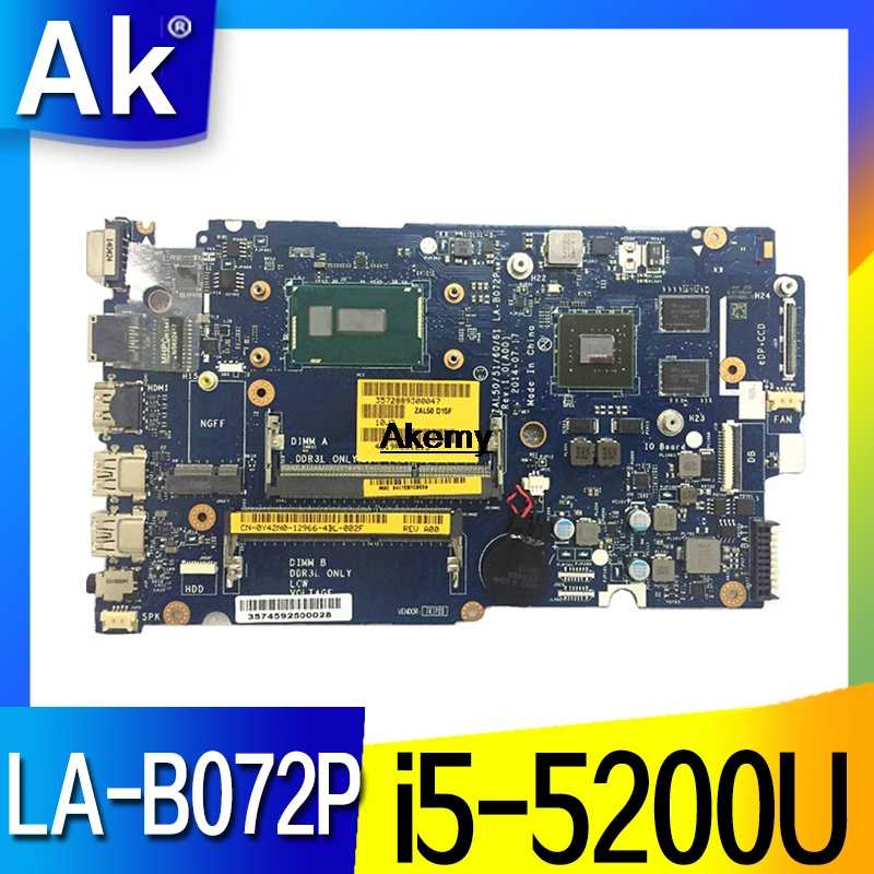 LA-B072P CN-0YWW5F CN-01J67F для Dell Latitude 3450 3550 Материнская плата ZAL50/51/60/61 LA-B072P i5-5200U Тесты работы 100%