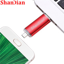 SHANDIAN Fashion flash drive OTG high Speed drive 64GB 32GB 16GB 8G 4GB external storage double Application Micro USB Stick gift