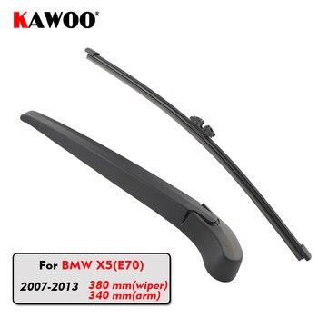 KAWOO Car Rear Wiper Blade Blades Back Window Wipers Arm For BMW X5(E70) Hatchback (2007-2013) 380mm Auto Windscreen