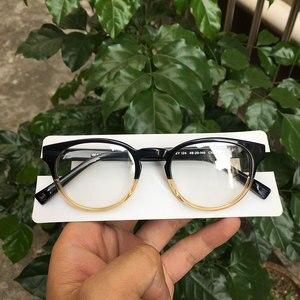 Image 4 - Women round eyeglasses frames black/havana Italy handmade acetate