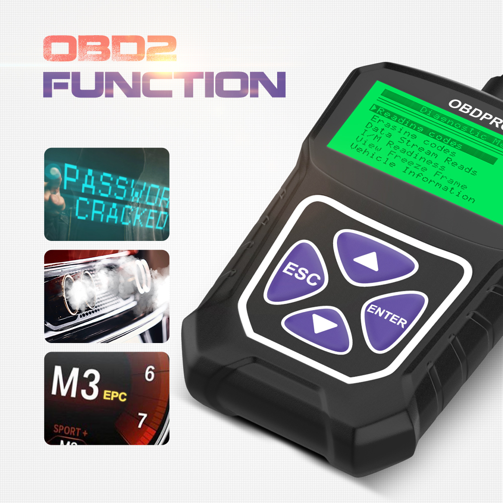 lowest price OBDPROG MT100 OBD2 Automotive Scanner For Car Code Reader Scanner Tools Auto Car Diagnostic Tool Russian Language PK Elm327