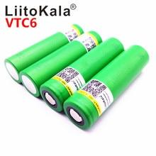 Горячая Liitokala VTC6 3,7 V 3000mAh литий-ионная аккумуляторная батарея 18650 US18650VTC6 30A высокомощный аккумулятор инструменты для вспышки