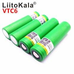Горячая Liitokala VTC6 3,7 V 3000mAh литий-ионная аккумуляторная батарея 18650 US18650VTC6 30A Высокая мощность Батарея инструменты flashligh