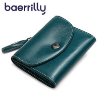 Fashion Genuine Leather Women Wallets Short Female Leather Purses Small Rfid Coin Purse Zipper Card Holder Ladies Purses Luxury
