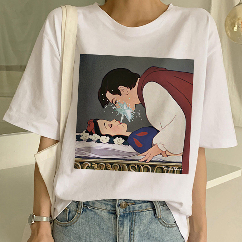 New Women's Dark Snow White Harajuku T Shirt Woman Casual Short Sleeve Tshirt Funny Print T-shirt Ullzang Summer Top Tees Female