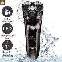 Xiaomi Electric Shaver beard shaving razor Beard timmer for men IPX7 shaving machine man LCD Display shaver barber razor Youpin