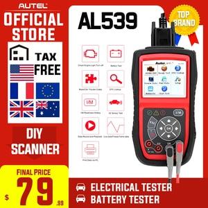 Image 1 - Autel AutoLink AL539 OBDII Electrical Test Tool Auto AL 539 OBD2 Scanner Internet Update Voltage Circuit Start Tester PK AL539B
