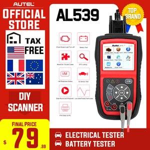 Image 1 - Autel Collegamento Automatico AL539 OBDII Test Elettrico Strumento di Strumento di Auto AL 539 OBD2 Scanner Aggiornamento Gratuito a Internet Circuito di Tensione di Avvio Tester PK AL539B