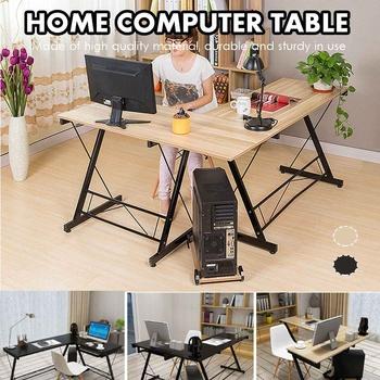 Stacja robocza drewniane biurko wielofunkcyjne biurko w kształcie litery L biurko do pracy w domu biurko komputerowe duże biurko podstawa monitora tanie i dobre opinie