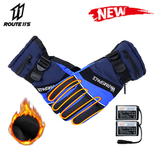 Motorcycle Gloves Battery Powered Winter Moto Electric Heating Glove Waterproof Keep Warm Motorbike Riding Racing Heated Gloves savior motorcycle heating gloves riding racing biking winter sports electric rechargeable battery heated warm gloves cycling