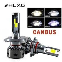 HLXG H7 Led Mini CANBUS H4 12V H11 H1 H8 H9 6000Kหลอดไฟ 12000LMไฟหน้ารถLampada 9005 HB3 9006 HB4 โคมไฟ