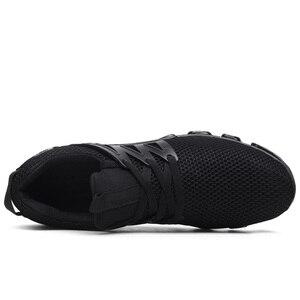 Image 5 - Модные мужские кроссовки Heidsy размера плюс 48, повседневная обувь, сетчатые мужские туфли на шнуровке, легкие дышащие мужские кроссовки для тренировок