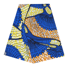Elegant African Ankara prints batik fabric sewing material 100% polyester high quality real dutch wax 6yards for party dress