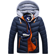 Mens New Cotton Jacket Padded Down Cotton-padded Collar Winter Warm Suit Parkas