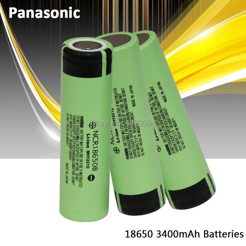 100% nova panasonic original ncr18650b 3.7 v 3400 mah 18650 baterias de bateria recarregável de lítio lanterna|Baterias recarregáveis|   -