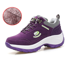 Тонизирующая обувь для женщин; сезон осень-зима; женская обувь на меху; обувь для фитнеса и прогулок; обувь для похудения; кроссовки на танкетке; обувь на плоской подошве