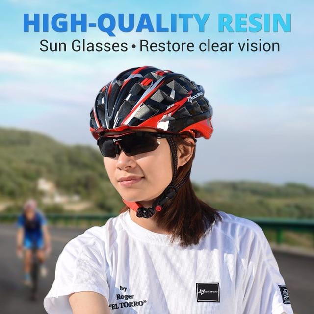 Hot! Rockbros polarizado ciclismo óculos de sol ciclismo ao ar livre esporte da bicicleta estrada mtb tr90 óculos de proteção masculino 5 lente 5