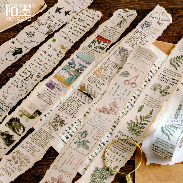 Forest Mountain Herb Plant Washi Tape Adhesive Tape Diy Scrapbooking Sticker Label Masking Tapes 30mm Wide