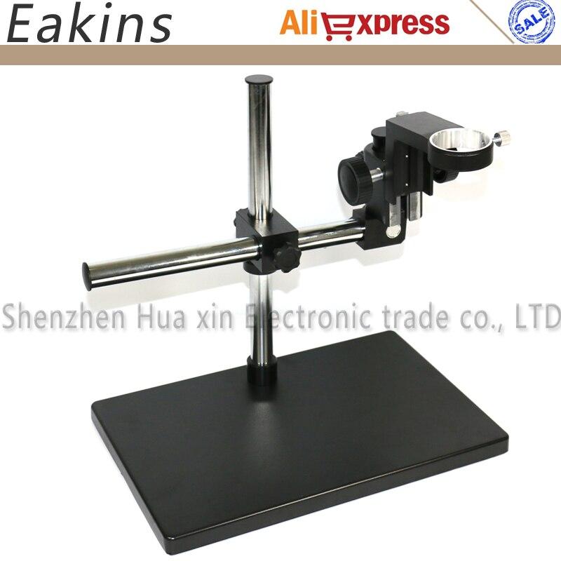 50mm Fokus Halter Große Größe Verstellbaren Tisch Mikroskop Stand + Multi-achse Einstellbare Boom Arm für Labor Industrie mikroskop Kamera