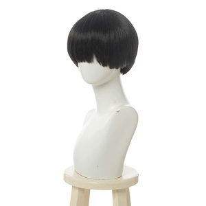 Image 2 - L email wig Toilet Bound Hanako kun Cosplay Wig Jibaku Shounen Hanako kun Cosplay Black Short Wig Heat Resistant Synthetic Hair