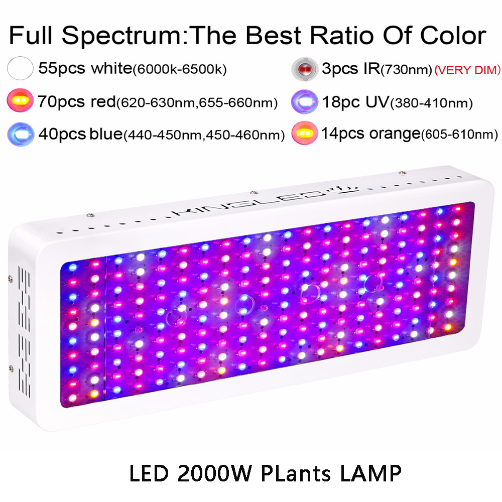 Image 4 - LED Plant Grow Light Full Spectrum 1200W 1500W 1800W 2000W Flower Lights Indoor Growing System Indoor Garden-in Growing Lamps from Lights & Lighting