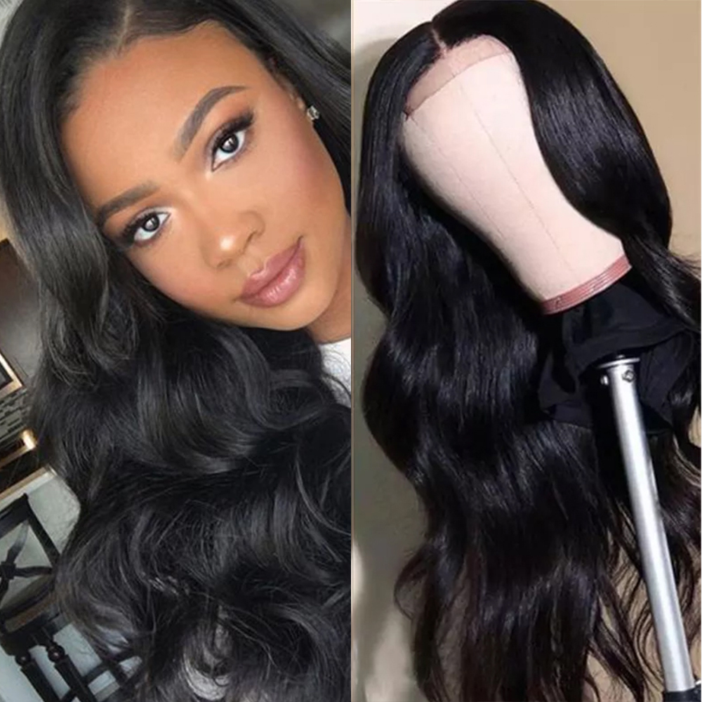 Brazil 180 Density Body Wave 180  Closure Human Hair Wigs Remy Closure Wig Lace Closure Wig For Women Human Hair