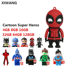 usb stick Cartoon Super Heros USB Flash Drive 128GB 64GB 32GB PenDrive 16GB 8GB 4GB Batman Superman Pen flash memory