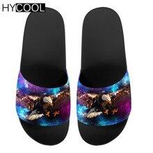 Men Slippers Flip-Flops Sandals Slides Male Outdoor Beach Summer HYCOOL Couple Bald Eagle-Pattern