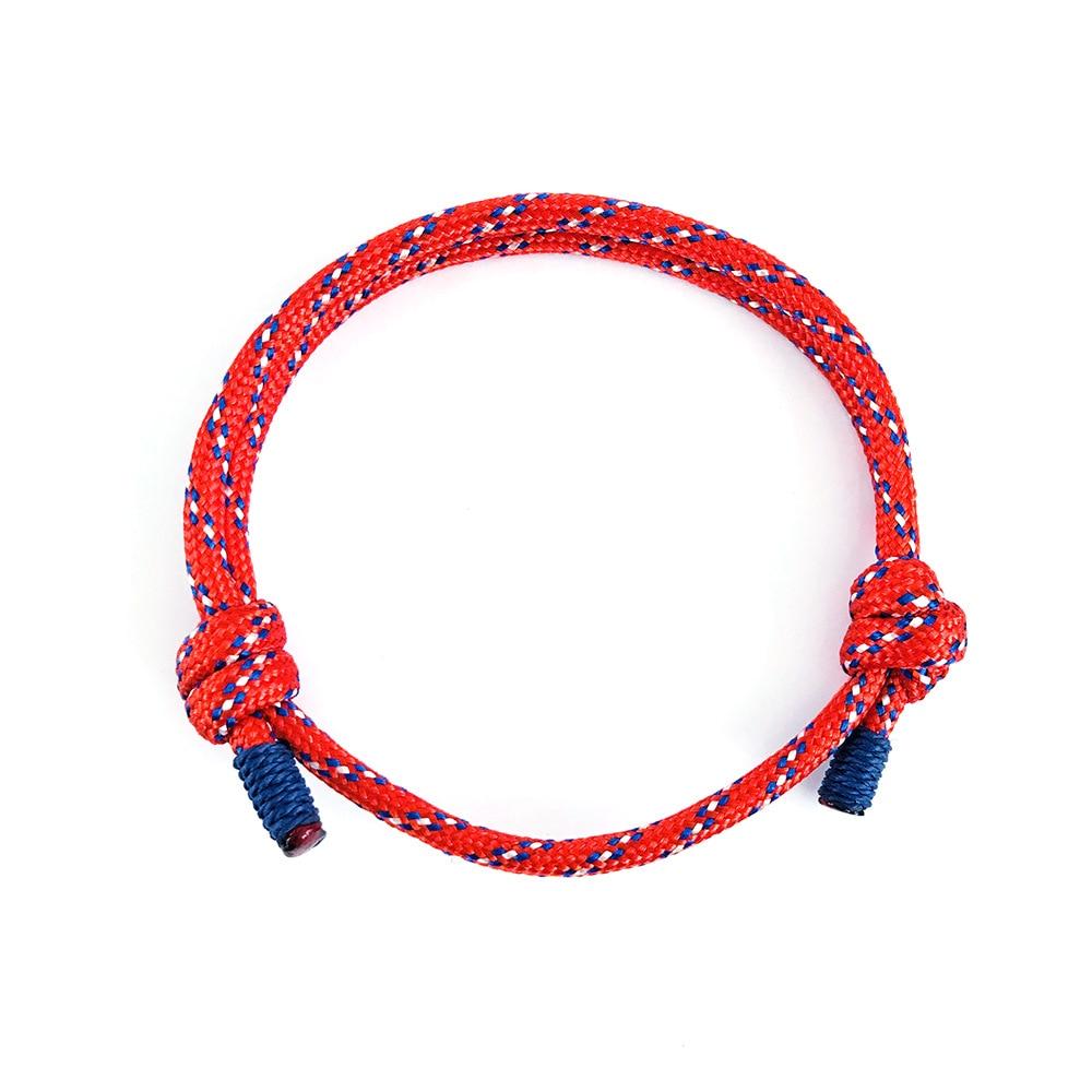 12 Warna Tali Sepatu Adjustable Survival Tali Gelang untuk Wanita Pria Outdoor Olahraga Mendaki Pegunungan Perhiasan Grosir