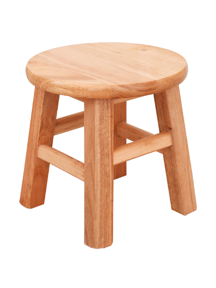 Oak Solid Wood Home Small Stool Bench Stool Manual Xiaomudeng Stools