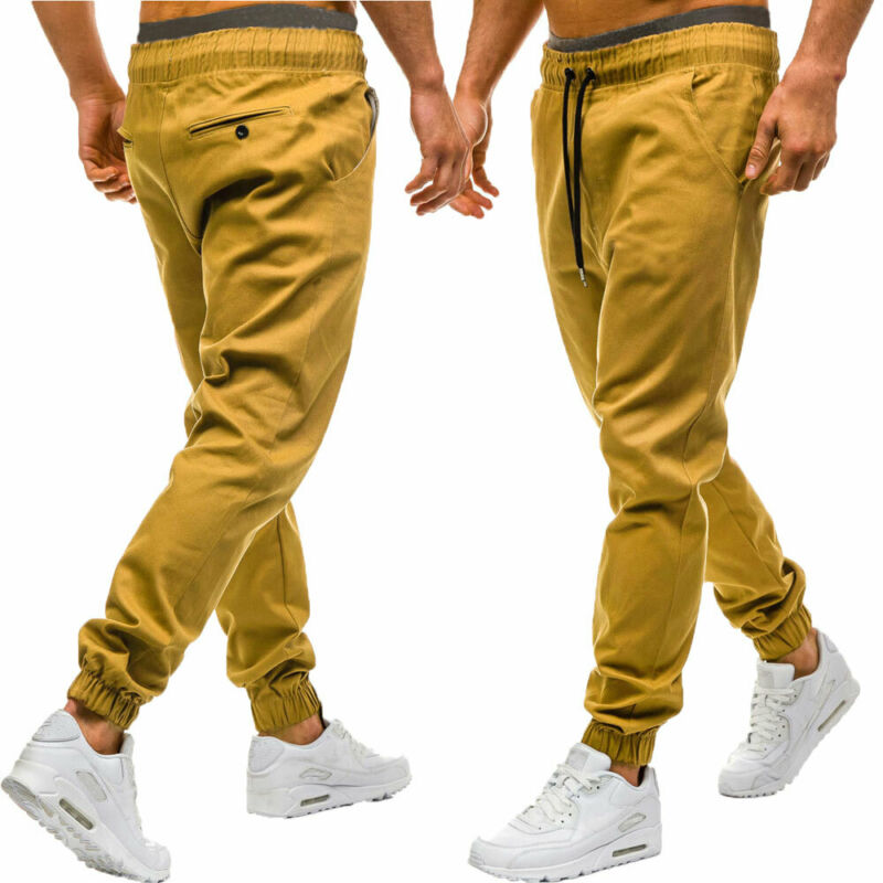 Spring Autumn Gyms Men Joggers Sweatpants Men's Casual Joggers Trousers Drawstring Sport Clothing High Waist Bodybuilding Pants