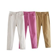 TOPPIES kobiet proste spodnie spodnie z wysokim stanem bawełniane spodnie dresowe odzież Plus Size tanie tanio COTTON Pełnej długości CN (pochodzenie) Wiosna jesień TP204 Stałe Na co dzień Mieszkanie REGULAR Osób w wieku 18-35 lat