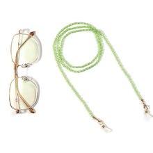 Óculos frisados corrente eyewear cordão cordão máscara colar masking chain titular para feminino criativo acrílico pérola cristal
