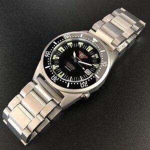 Image 1 - Steeldive 1979t relógio mecânico automático nh35 safira de cristal especial tubarão 200m mergulhador relógio masculino c3 luminoso relógios de mergulho