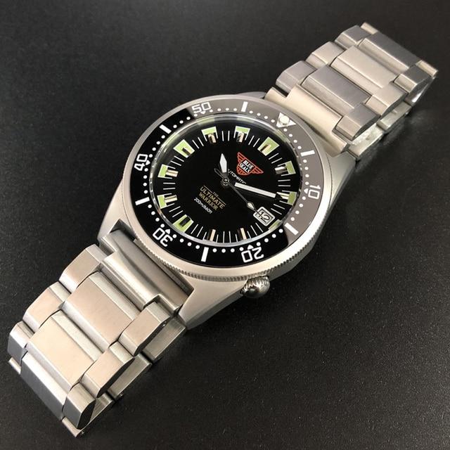 Steeldive 1979t relógio mecânico automático nh35 safira de cristal especial tubarão 200m mergulhador relógio masculino c3 luminoso relógios de mergulho