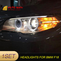 Car Styling Head Lamp case for BMW F10 F18 Headlights 2011 2013 LED F18 headlight for 520 523 525 518i Headlights Bi Xenon