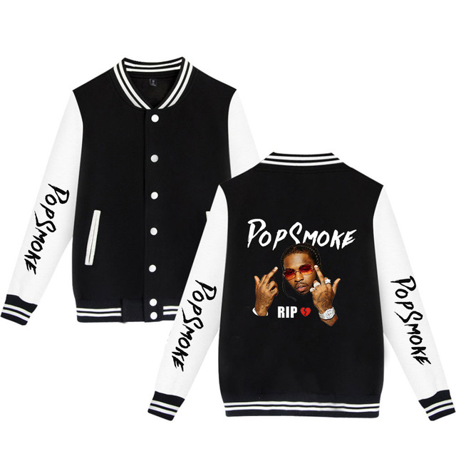 POP SMOKE THEMED BASEBALL JACKET (20 VARIAN)